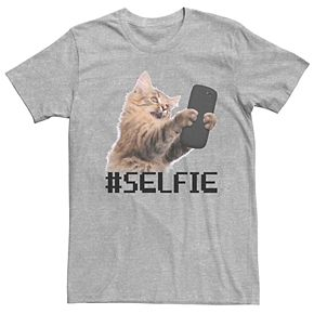 Men's Cat Selfie Graphic Tee