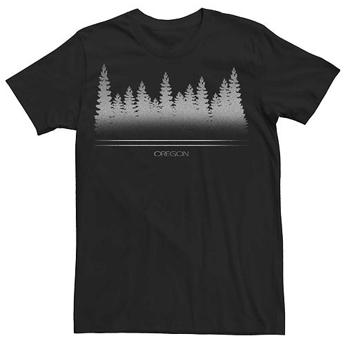 Men's Oregon Forest Trees Graphic Tee
