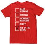 Men's Dad Checklist Humor Graphic Tee