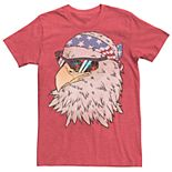 Men's Bald Eagle American Flag Bandanna Graphic Tee