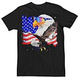Men's American Bald Eagles Space Poster Graphic Tee