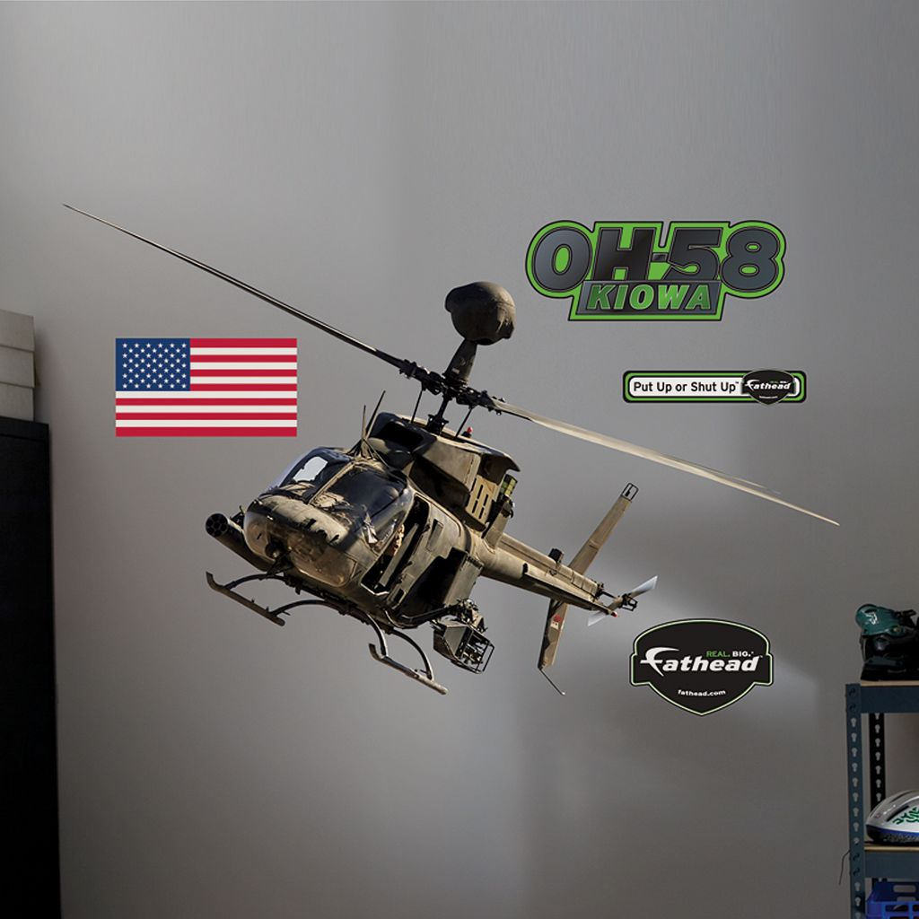Fathead OH-58 Kiowa Warrior Wall Decal