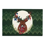 "St. Nicholas Square® Deer Holiday Rug - 20"" x 30"""