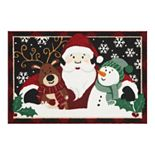 "St. Nicholas Square® Santa Friends Holiday Accent Rug - 19.5"" x 30"""