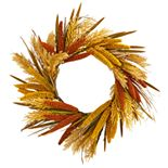 nearly natural 25 In. Sorghum Harvest Artificial Wreath