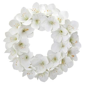 nearly natural 24 In. Amaryllis Artificial Wreath