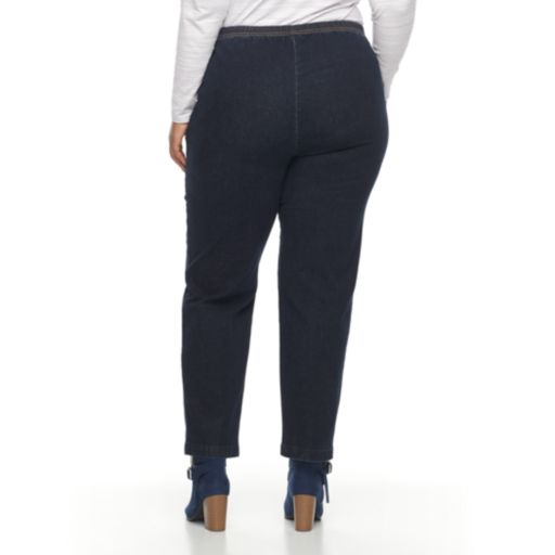 Plus Size Croft & Barrow® Pull-On Tapered-Leg Jeans
