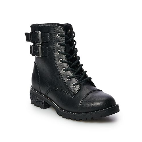 SO® Briana Girls' Combat Boots