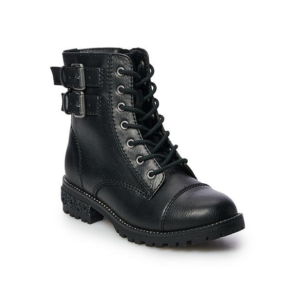 Black Girls Combat Boots