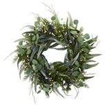 nearly natural 24 In. Eucalyptus and Mixed Greens Artificial Wreath