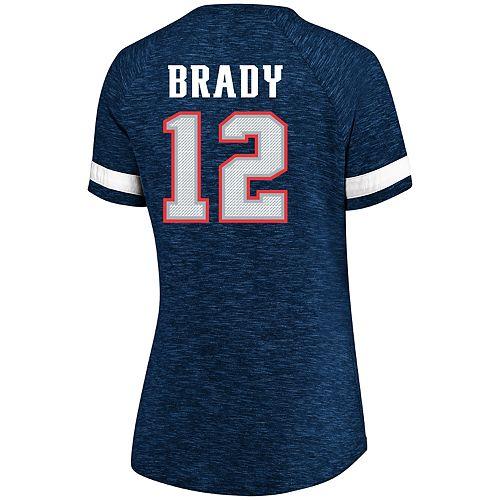 best loved b00ed ffa16 Women's Plus Size NFL New England Patriots Tom Brady V-Neck Tee