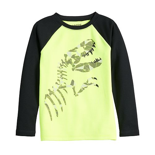 Boys 4-12 Jumping Beans® Raglan Thermal Fossil Graphic Tee