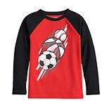 Boys 4-12 Jumping Beans® Raglan Thermal Sports Graphic Active Tee