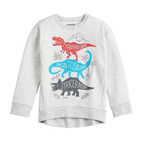 Boys 4-12 Jumping Beans® Dinosaur High Low Sweatshirt