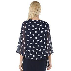 Women's Hudson & Harper Attached Chiffon Jacket & Dress Set