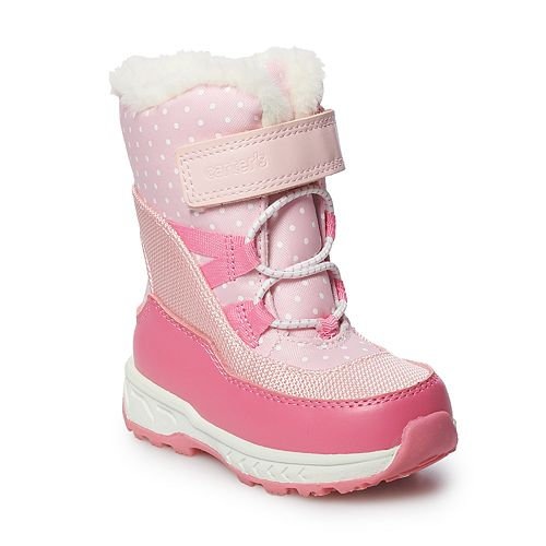 Carter's Uphill Toddler Girls' Water Resistant Snow Boots