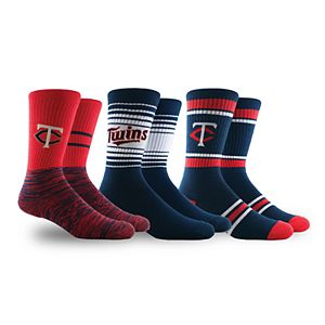 Minnesota Twins 3-Pack Crew Socks