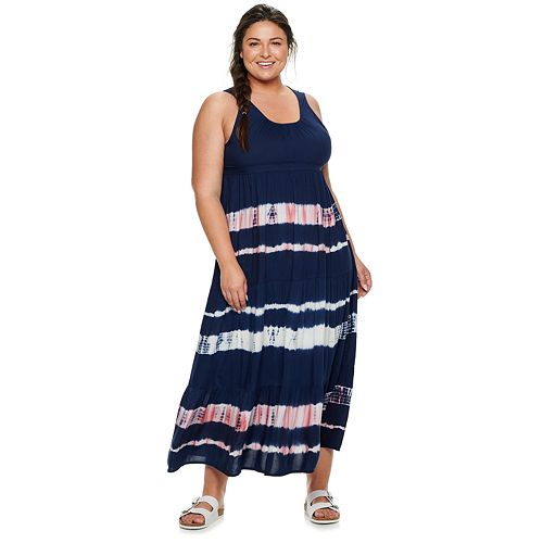 Plus Size SONOMA Goods for Life™ Tiered Challis Dress
