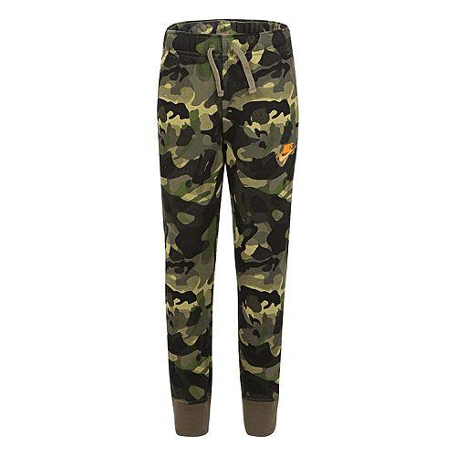 Boys 4-7 Nike Fleece Camo Pull On Jogger Pants