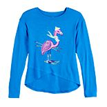 Girls' 7-16 SO® Cozy Glitter Graphic Envelope Top