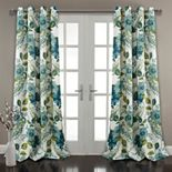 Lush Decor 2-pack Floral Paisley Room Darkening Window Curtains