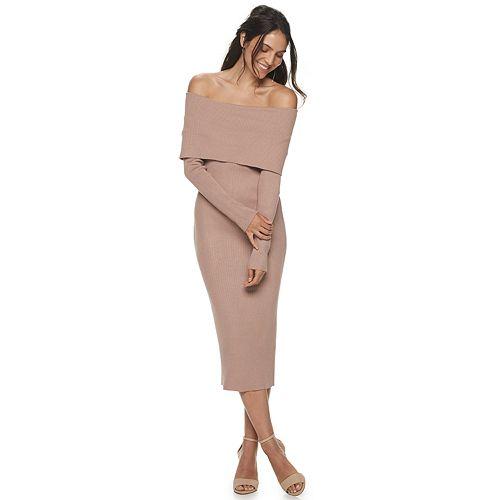 Women's Apt. 9® + Cara Santana Off The Shoulder Sweater Dress by Apt. 9