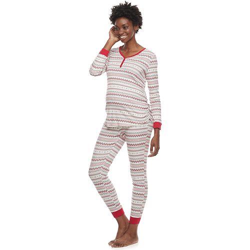 Maternity LC Lauren Conrad Jammies For Your Families Fairisle Top & Bottoms Pajama Set