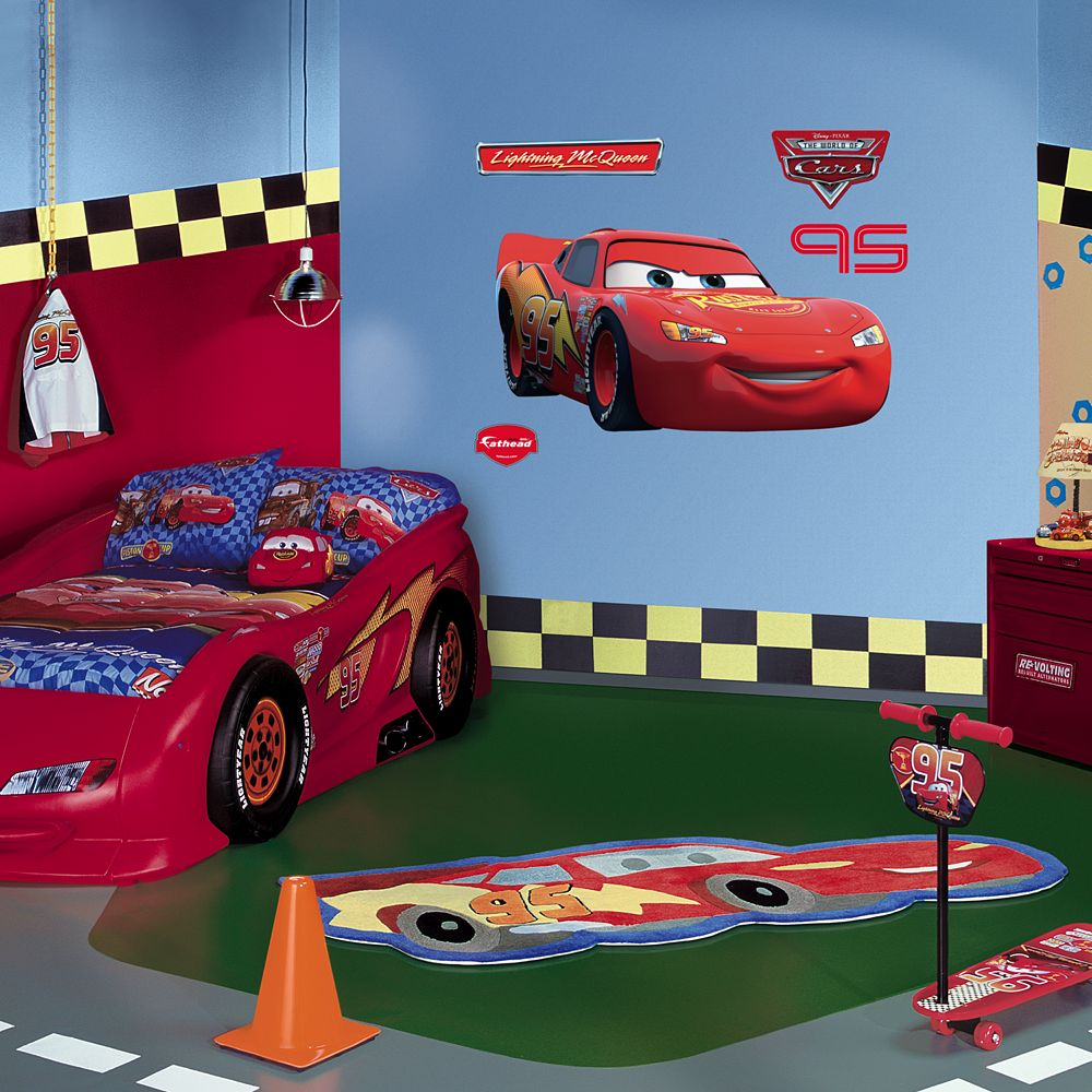 Pixar Cars Lightning McQueen Wall Decal By Fathead - Lightning mcqueen custom vinyl decals for car