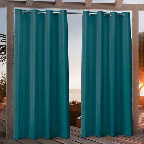 Nicole Miller 2-pack New York Canvas Indoor/Outdoor Window Curtains