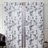 Nicole Miller 2-pack New York Kristy Floral Cotton Window Curtains
