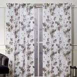 Nicole Miller NY 2-pack New York Kristy Floral Cotton Window Curtains
