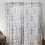 Nicole Miller NY 2-pack New York La Petite Fleur Floral Cotton Window Curtains