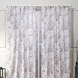Nicole Miller NY 2-pack New York Lillian Floral Cotton Window Curtains