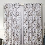 Nicole Miller 2-pack New York Lillian Floral Cotton Window Curtains