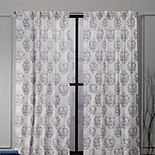 Nicole Miller 2-pack New York Tabitha Damask Print Cotton Window Curtains