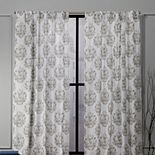 Nicole Miller NY 2-pack New York Tabitha Damask Print Cotton Window Curtains