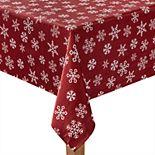 St. Nicholas Square® Yuletide Snowflake Tablecloth