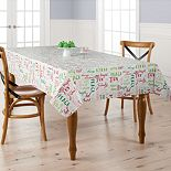St. Nicholas Square® Word Toss Vinyl Tablecloth