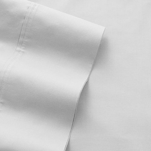 Elite Home Products 300 Thread Count Cotton Percale Sheet Set