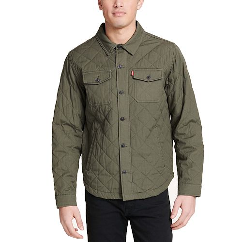 Men's Levi's® Diamond Quilted Cotton Shirt Jacket