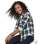 Girls 6-16 & Plus Size SO® Relaxed Flannel Shirt