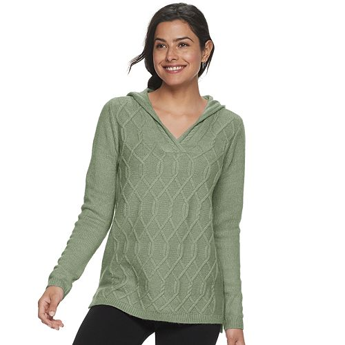 Women's SONOMA Goods for Life® Supersoft V-neck Hooded Sweater