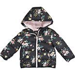 Toddler Girl Carter's Floral Puffer Jacket