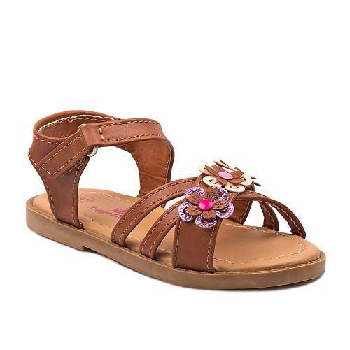 Rugged Bear Flowers Toddler Girls' Sandals