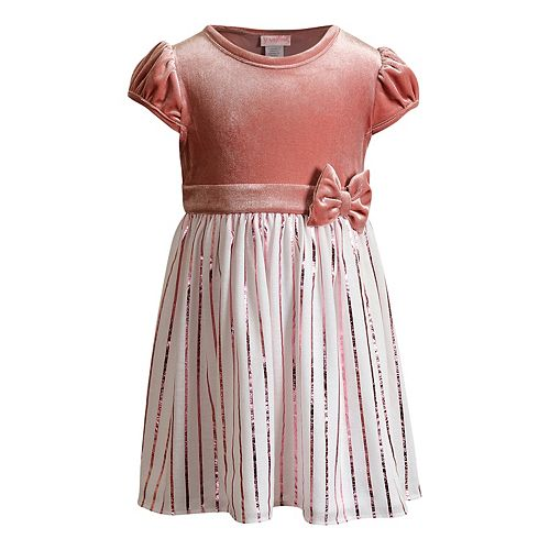 Toddler Girl Youngland Velvet Pleated Skirt Dress