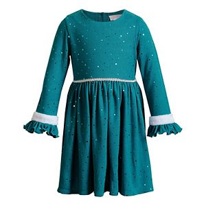 Toddler Girl Youngland Knit Ruffled Dress