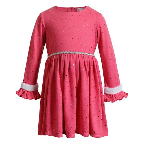 Toddler Girl Youngland Knit Ruffled Dress
