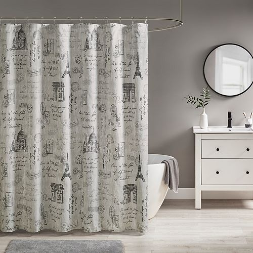 510 Design Mariam Paris Printed Shower Curtain
