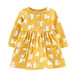Baby Girl Carter's Yellow Cat Dress