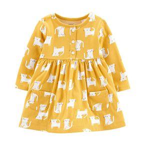 Baby Girl Carter's Yellow Cat Dress